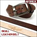 AVIREX(アビレックス)スカル型押しレザーベルト/AX4109-長さ調節できます♪-【smtb-k】【ky】【楽ギフ_包装】