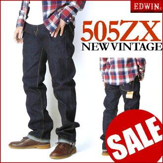 EDWIN (Edwin ) 505 ZX one wash - New Vintage-