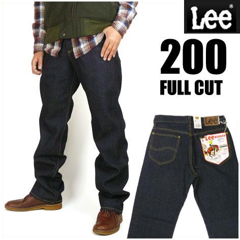 LEE (リー) 200 ワンウォッシュ -FULL CUT/フルカット- ややゆったりめのストレート...