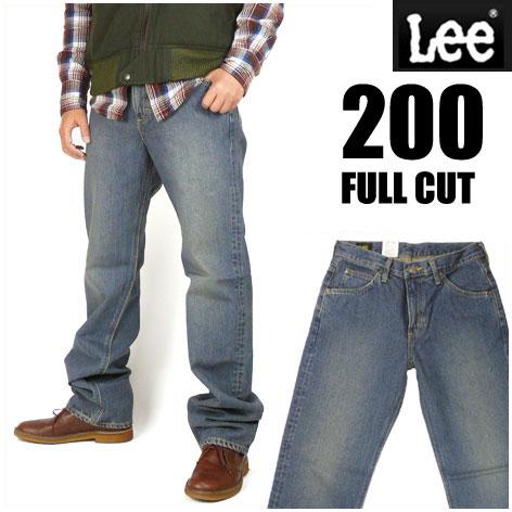 LEE (リー) 200 ユーズドブルー -FULL CUT/フルカット- ややゆったりめのストレート...