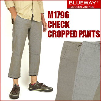 BLUEWAY (blueway) M1796 check CROPPED PANTS and check cropped pants - shorts