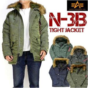 """★ミリタリーブランド""""ALPHA""""のN-3B。★極寒地用フライトジャケット。★タイトなシルエットが新..."""