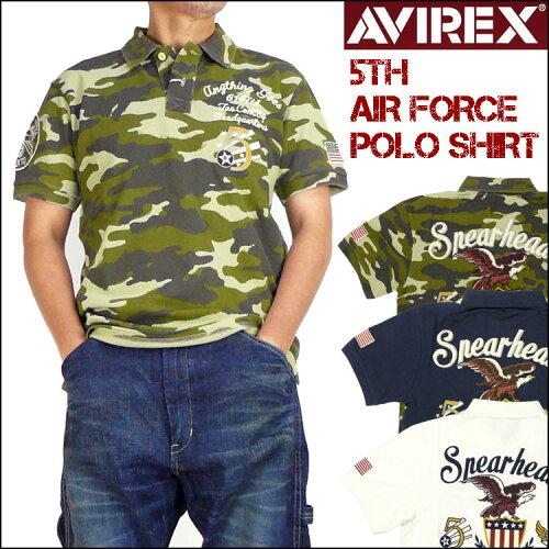 AVIREX (アビレックス)5th AIR FORCE POLO SHIRT-半袖ポロシャツ/5th エアーフォ...