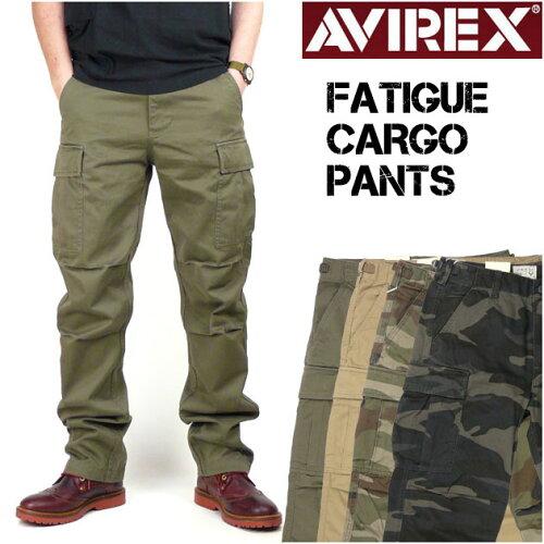 AVIREX (アビレックス) FATIGUE CARGO PANTS -ファティーグ カーゴパンツ- 6166110/6166111 【送料...
