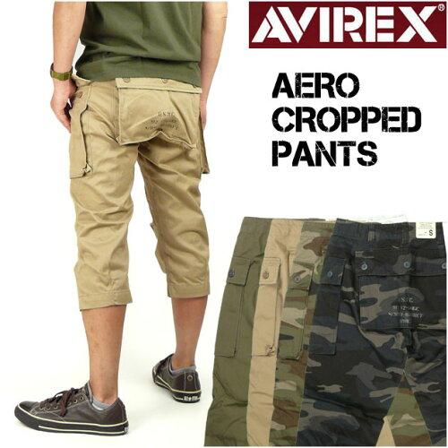 AVIREX (アビレックス) AERO CARGO CROPPED PANTS -エアロ カーゴクロップドパンツ/ショートパン...