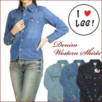 LEE (Lee )-Lady's-denim Western shirt Heritage Edition 2 LL0338