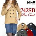 Schott/Lady's(ショット)742SBBOYSPEACOAT/ピーコート-MadeinUSA-7130【smtb-k】【ky】