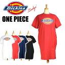 セール DICKIES ディッキーズ レディース ロゴプリント ルーズフィットワンピース ロングTシャツ 半袖ワンピース DK006309 その1