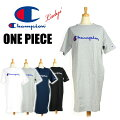 セールChampionチャンピオンレディースロゴ刺繍ワンピース半袖ロングTシャツCW-P308
