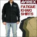 AVIREX(アビレックス)FATIGUEKHAKISHIRTS-ファティーグカーキシャツ/長袖シャツ-6165138【送料無料】mtl-sh