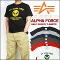 アルファALPHA半袖Tシャツ/ALPHAFORCETC1126メンズプレゼントギフト