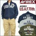 アビレックスAVIREXメンズアメリカ空軍70周年記念モデルサーモライトスタンドジップスウェットUSAF70thANNIVERSARY6173436【送料無料】