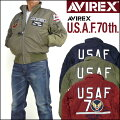 AVIREXアビレックスメンズアメリカ空軍70周年記念モデルTYPEMA-1フライトジャケットUSAF70thANNIVERSARY6172140【送料無料】