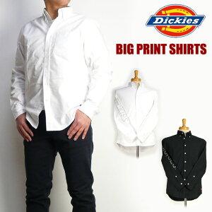 セール DICKIES ディッキーズ メンズ シャツ ロゴプリント 長袖ボタンダウンシャツ 173M20EC03