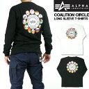 ALPHA アルファ メンズ Tシャツ 長袖Tシャツ COALITION CIRCLE ミリタリーTシャツ プレゼント ギフト TC1293