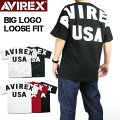 AVIREXアビレックスビッグロゴルーズフィットTシャツBIGLOGOLOOSEFITT-SHIRTS半袖TシャツミリタリーTシャツメンズ6183546