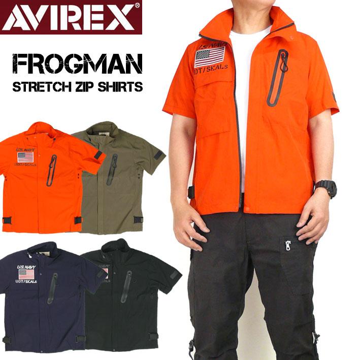 トップス, カジュアルシャツ AVIREX FROGMAN ZIP SHIRTS 6195096