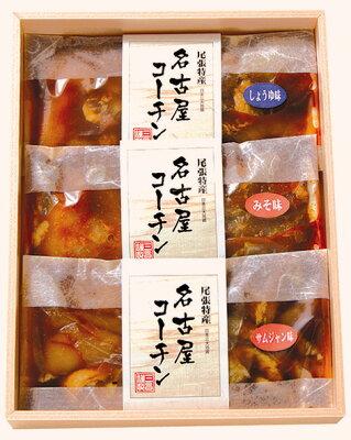 鶏専門店が地鶏の王様『名古屋コーチン』を3種類のタレに漬け込み熟成させた焼肉セットです。地...