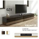 210幅 ローボード テレビ台 <GZV> WH/オークとBK/ウォールナット 2色対応 UV塗装 【産地直送価格】