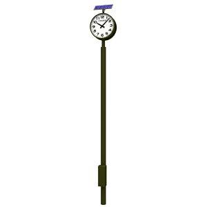 【受注生産】【代引き不可】 SL-702D リズム時計工業(株) ソーラー式ポールクロック 丸型 2面(...