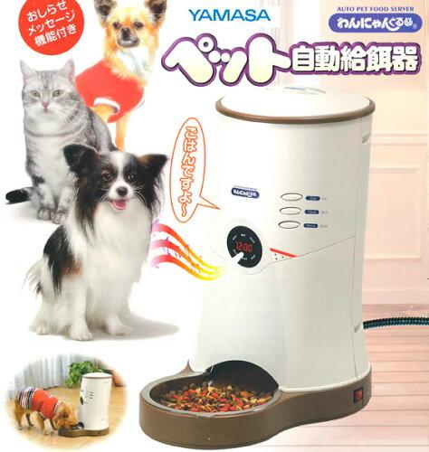ペット 自動給餌器 わんにゃんぐるめ 小型犬 猫 兼用 CD-600-BE YAMASA ヤマサ 山佐 餌 自動 自動...
