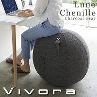 Vivora(ビボラ) シーティングボール ルーノ シェニール チャコールグレー バランスボール 0801