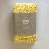 kontex(コンテックス) one size towel ワンサイズタオル フェイスタオル イエロー YE 黄 40x100cm コットン100% 日本製 今治タオル 51278-003