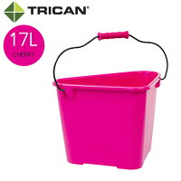 TRICAN トライカン TRICAN Fashion トライカンファッション 三角バケツ 17L チェリー ピンク系 W420xD300xH285mm 13310