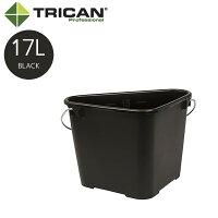TRICAN トライカン Trican Professional 17L トライカンプロフェッショナル 三角バケツ 17L ブラック 黒 W420xD300xH285mm 13315