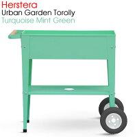 HERSTERA エルステラ アーバンガーデン トローリー ターコイズ(ミントグリーン) 移動式栽培トロリー 組立式 ツールBOX 物置 ガーデニング 15971