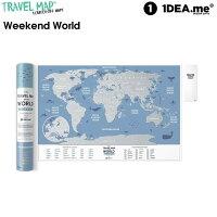 1DEA.me(アイデアドットミー) Travel Map Weekend World IDEA009