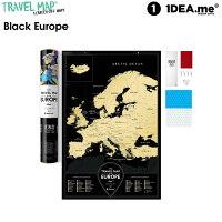 1DEA.me(アイデアドットミー) Travel Map Black Europe IDEA102