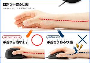 エルゴノミクスマウス(レーザー・5ボタン)手首の負担を減らして腱鞘炎になりにくい/カーソルスピード変更可能/進む・戻るボタン/ラバーコーティング【送料無料】NEO4-MA036