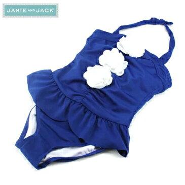 JANIE AND JACK ジェニーアンドジャック スイムウェア 水着 お花付き キッズ ガールズ 女の子(ブルー)女児 キッズ おしゃれ かわいい 上品 ガール 夏 海 サマー プール