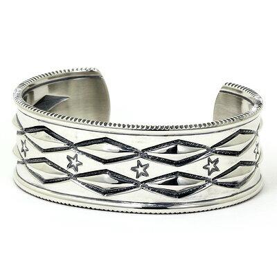 コディ サンダーソン バングル シルバー925  Long Diamond Cuff  bracelet Mサイズインディアンジュエリー:サントノーレ