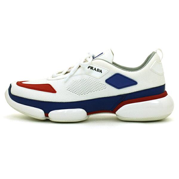 プラダPRADAプラダクラウドバストニットファブリックスニーカーシューズ靴2EG253SPORTKNITGRA