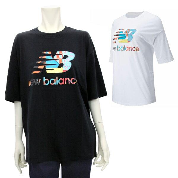 ニューバランスnewbalanceスポーツスタイルマイケルリーダーグラフィックショートスリーブTシャツWT01545レディース国