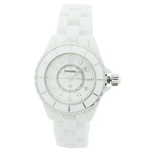 Chanel CHANEL J12 Diamond 8P Ladies Watch Watch H2422 White Shell Dial