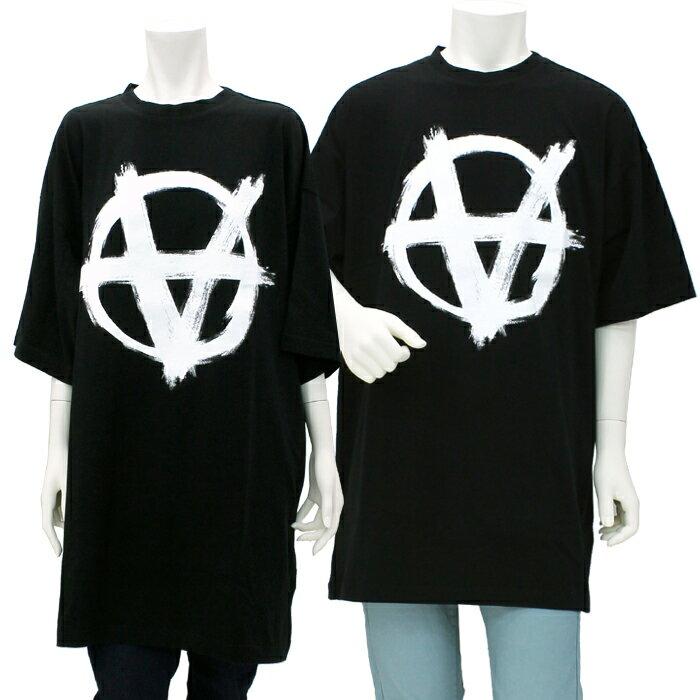 トップス, Tシャツ・カットソー  VETEMENTS T Anarchy Gothic Logo T Shirt T UE51TR640B