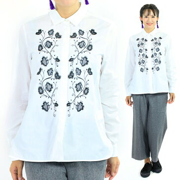 訳あり 汚れ マックスマーラ WEEK END MAX MARA BESSICA コットン長袖刺繍シャツレディース 38サイズ