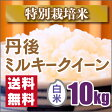 【特別栽培米】新米京都丹後ミルキークイーン白米10kg【28年産】