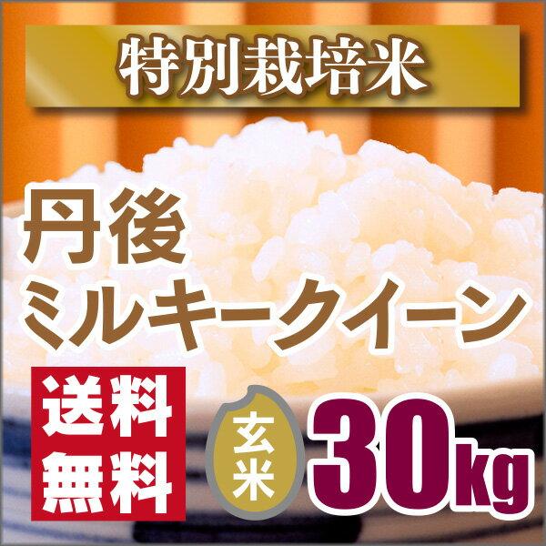 【特別栽培米】京都丹後ミルキークイーン玄米30kg(29年産新米)