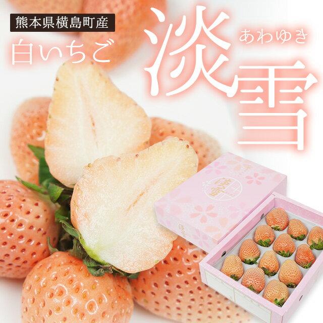熊本横島産 淡雪いちご 約400g (9〜15粒) 化粧箱入