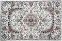 ウィルトン 玄関 マット イスファーハン 約60x90cm WHITE 白 インテリア ラグ カーペット