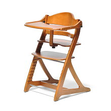 ベビーチェアすくすくチェアプラス1502LBテーブル&ガード付ライトブラウン色大和屋