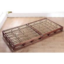 籐(ラタン)フロアベッド籐すのこベットシングルサイズアジアンテイスト折りたたみベッド