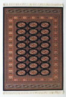 ラグカーペットウール100%140×200cm長方形マハール[1020-509]高級ウィルトン織りホットカーペットOK