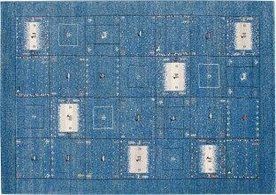 ジュウタンカーペットラグ160×230cmブルー色長方形ラヴィホットカーペットOK