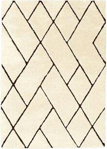 ラグカーペット140×200cmブラウン色長方形ルノンジュウタンフックドラグホットカーペットOK