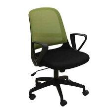 オフィス、ワークチェア肘掛付きメッシュ張り回転デスクチェアCW-158GNグリーン色